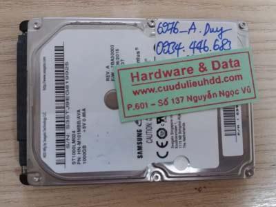 Phục hồi dữ liệu ổ cứng ST1000LM024