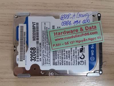 cứu dữ liệu ổ cứng WD3200BPVT