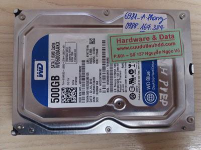 6981 Western 500GB lỗi đầu từ