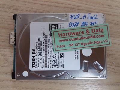 7018 toshiba 500GB hỏng đầu từ