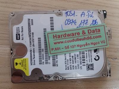 7051 western 500GB hỏng đầu từ