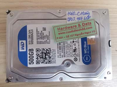 7060 Western 500GB lỗi đầu từ