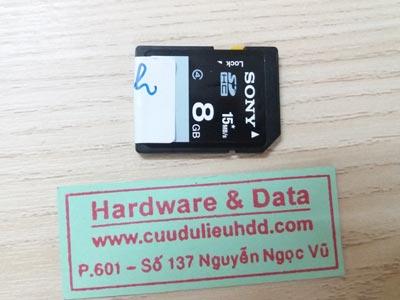 9/11/17  the Sony 8GB xóa toàn bộ dữ liệu