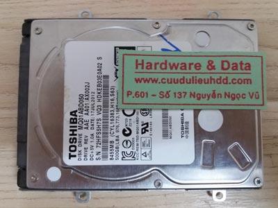 9/ 11/17 Toshiba 500GB xóa nhầm
