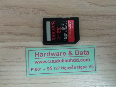 Phục hồi dữ liệu thẻ nhớ 32GB