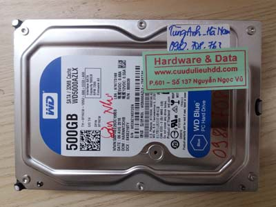 Lấy lại dữ liệu ổ cứng Western 500GB