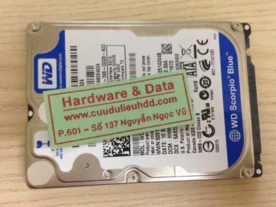 23/11 Western 320GB đầu đọc lỗi