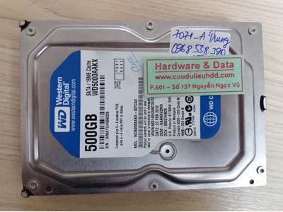 7071 Western 500GB hỏng đầu từ