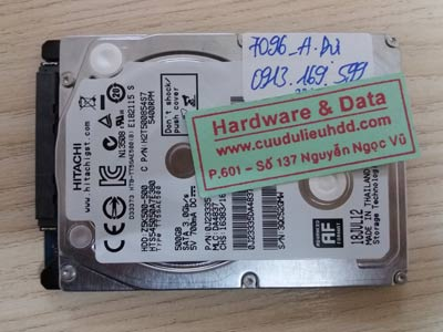 7096 Hitachi 500GB lỗi đầu từ