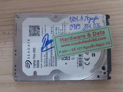 7101 seagate 500GB chết cơ