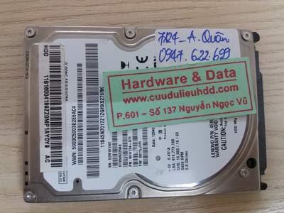 7124 Seagate 500GB chết cơ