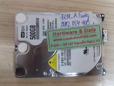7134 Western 500GB hỏng đầu từ