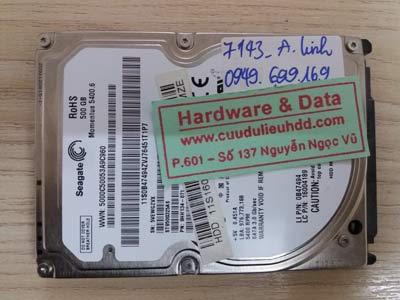 7143 Seagate 500GB đầu đọc lỗi