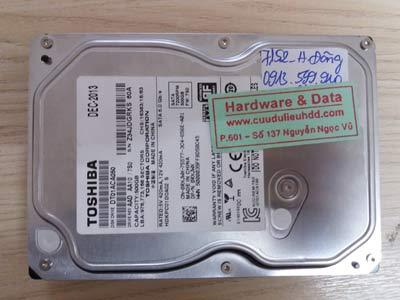 7152 Toshiba 500GB chết cơ