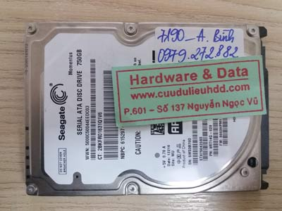 7190 seagate 750GB bad sector nặng