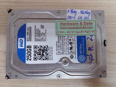 26/12 Western 250GB hỏng cơ