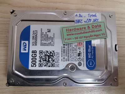 6/1 Western 500GB đầu từ lỗi