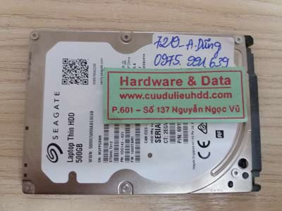 7219 Seagate 500GB hỏng đầu từ