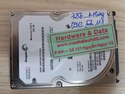 7256 Seagate 250GB đầu từ lỗi