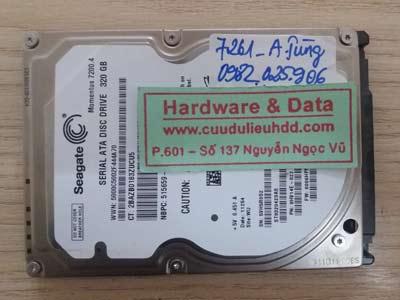 7261 Seagate 320GB format dữ liệu
