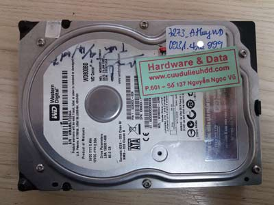7273 western 80GB hỏng cơ
