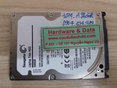 7274 Seagate 500GB chết cơ