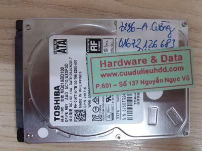 7286 toshiba 1TB mất dữ liệu