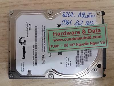 7267 seagate 500GB hỏng đầu từ