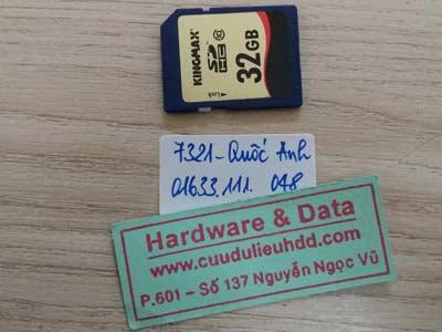7321 the 32GB mất định dạng