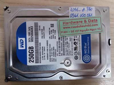 7348 western 250GB đầu từ lỗi