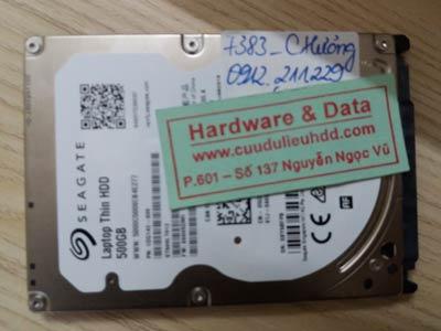7383 Seagate 500GB mất dữ liệu