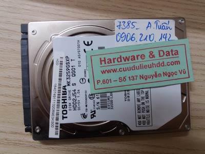 7385 Toshiba 320GB mất dữ liệu