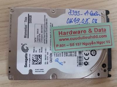 7393 Seagate 500GB chết cơ