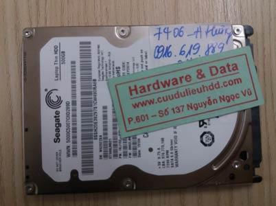 7406 Seagate 500GB đầu đọc lỗi