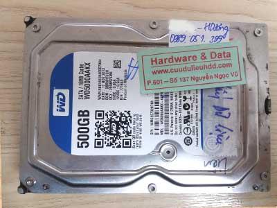 28-3 Western 500GB hỏng cơ
