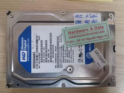 7433 western 500GB bị chết cơ
