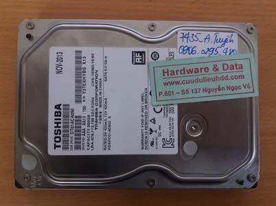 7435 Toshiba 500GB đầu từ lỗi