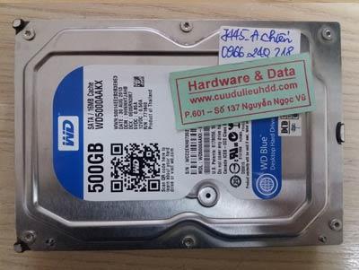 7445 Western 500GB đầu đọc lỗi