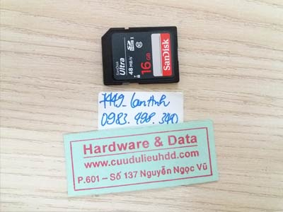 7449 thẻ nhớ sandisk 16Gb format nhầm