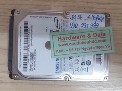 7456 samsung 320GB hỏng 1/3 đầu từ