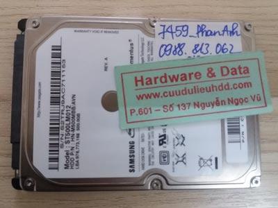 7459 samsung 500GB chết cơ đĩa kém
