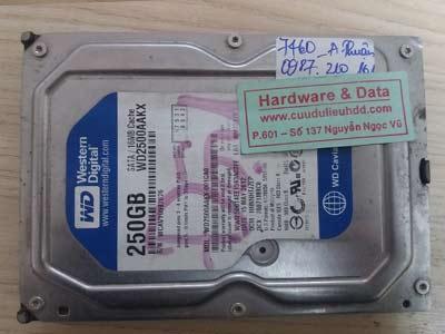7460 western 250GB lỗi đầu đọc