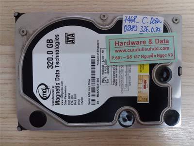 7468 magnetic 320GB chết cơ