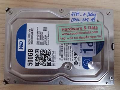 7481 Western 500GB chết cơ