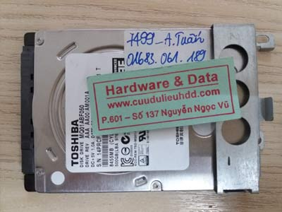 7499 Toshiba 500GB ghost nhầm