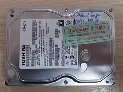 7516 Toshiba 500GB hỏng đầu từ