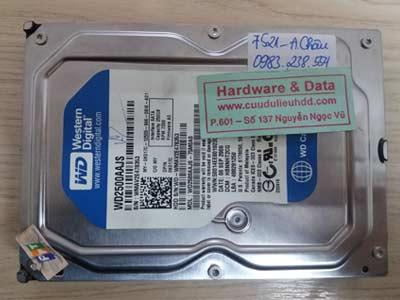 7521 western 250GB bị lỗi cơ