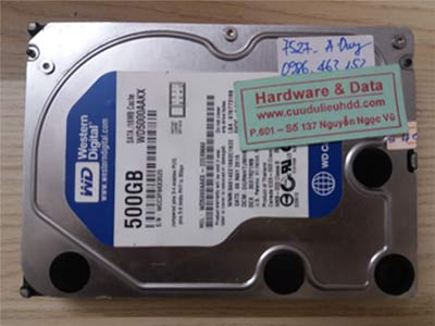 7527 Western 500GB đầu từ lỗi