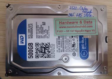 7533 Western 500GB bị lỗi cơ