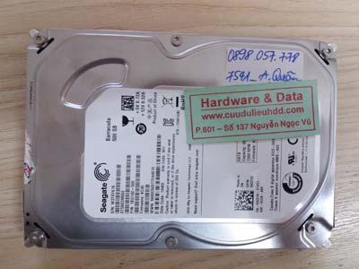 7541 Seagate 500GB hỏng đầu từ